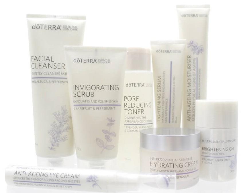 doterra essential skin care vrhunska kolekcija za obraz krema za obraz serum brightening gel piling krema tonik