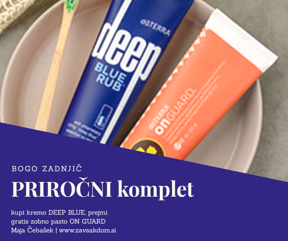 doterra deep blue rub krema on guard toothpaste zobna pasta