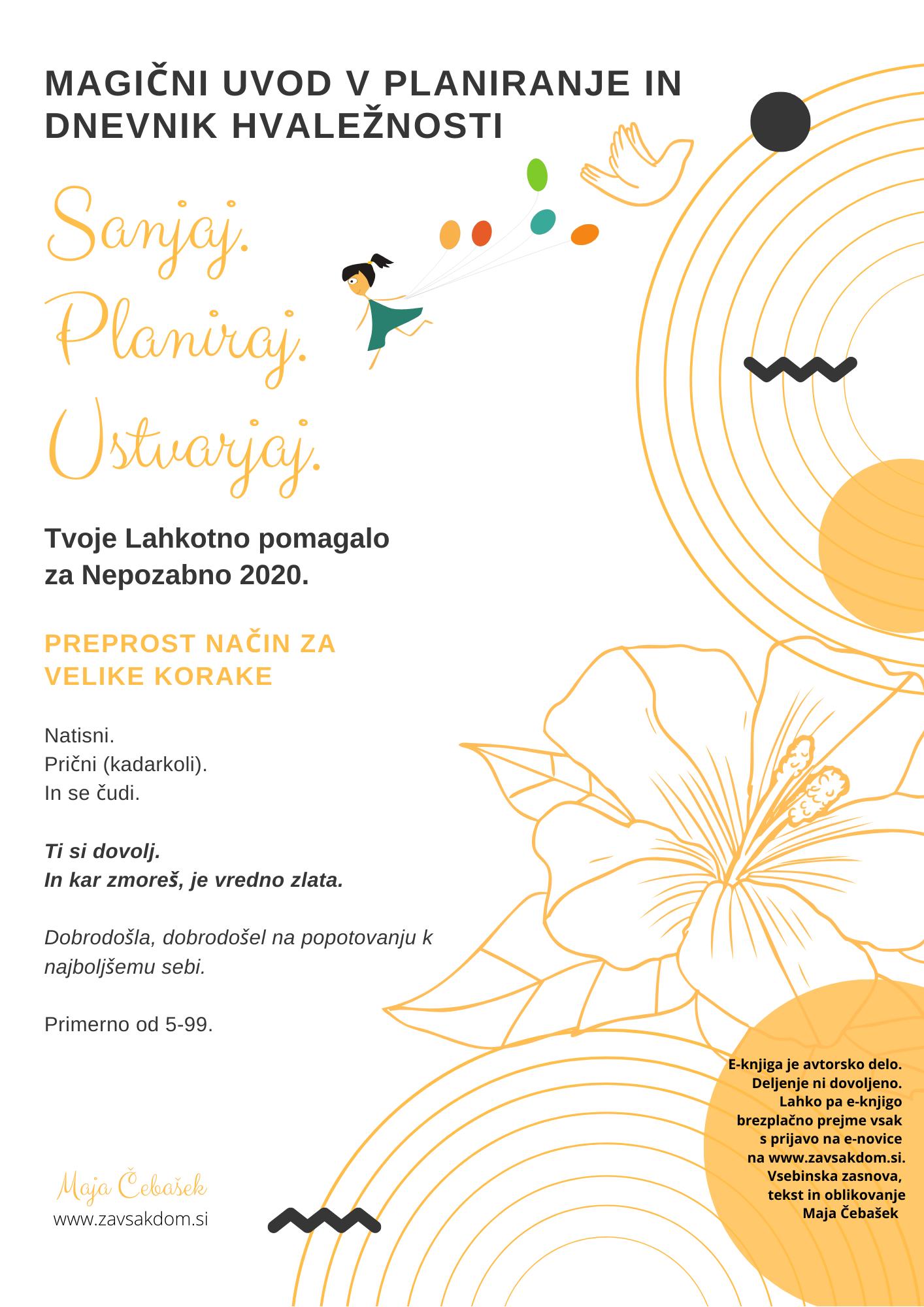 gratis brezplačni planer dnevnik hvaležnosti