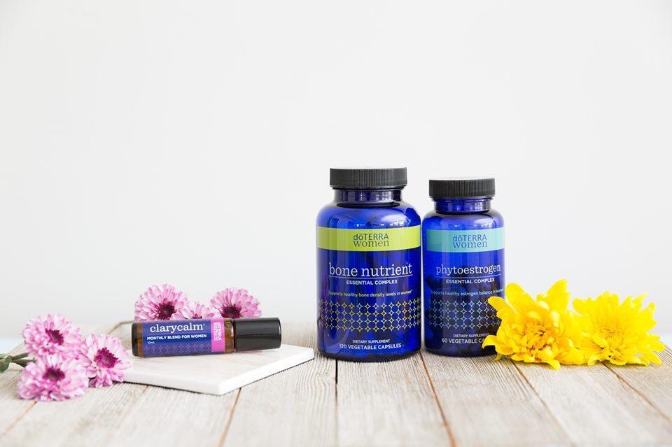 Clary Calm, Phytoestrogen, Bone Nutrient | doTerra Women´s Health Kit, ženska cikličnost in ravnovesje hormonov